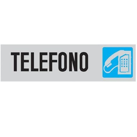 Targa segnaletica TELEFONO - adesiva 4x15
