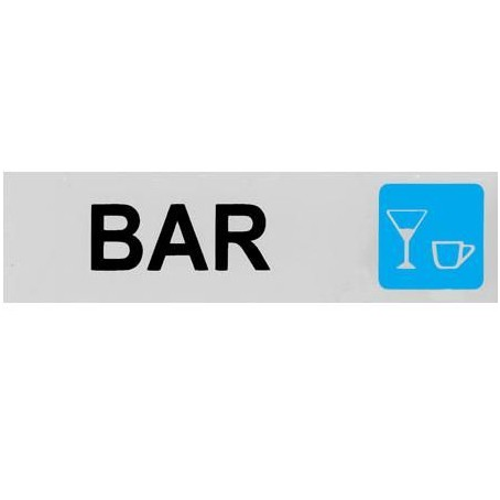 Targa segnaletica BAR - adesiva 4x15