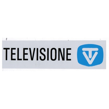 Targa segnaletica TELEVISIONE - adesiva 4x15