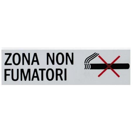 Targa segnaletica ZONA NON FUMATORI - adesiva 4x15