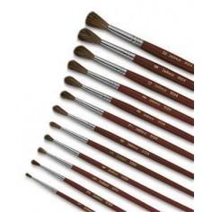 Set 3 pennelli punta tonda - punta 1 - 5 - 8