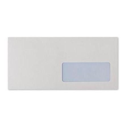 Buste bianche 11x23 con finestra - strip adesivo - 90gr 25pz