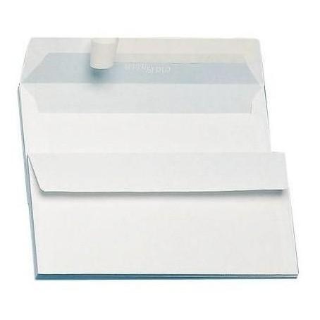 Buste bianche 11x23 senza finestra - strip adesivo - 90gr  25pz