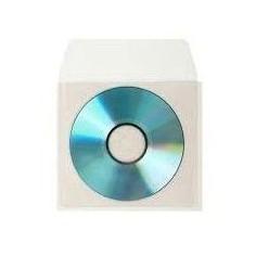 Buste trasparenti per Cd e DVD con aletta - conf da 50 pezzi