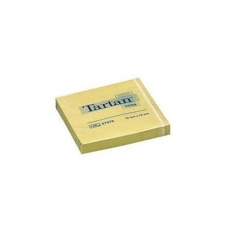 Foglietti adesivi riposizionabili - 76x76 giallo - 5 PEZZI