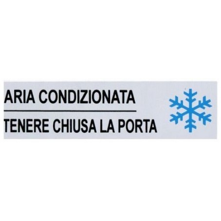 Targa segnaletica ARIA CONDIZIONATA - adesiva 4x15