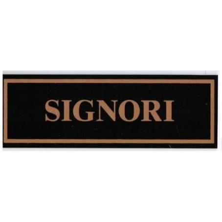 Targa segnaletica SIGNORI - in plex verde 6x18