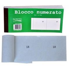 Blocco numerato 1 - 100 - 2 pezzi - colori tenui