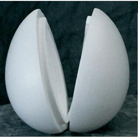 Uovo in polistirolo apribile da 200 mm - 2 pezzi