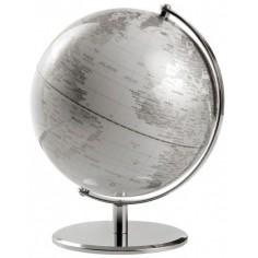 Mappamondo in alluminio Ice Planet - silver bianco . oggetto da arredo