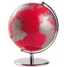 Mappamondo in alluminio Red Planet - rosso bianco . oggetto da arredo