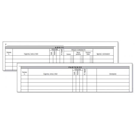 Registro arrivi e partenze - protocollo persone arrivate e partite - 96 pagine