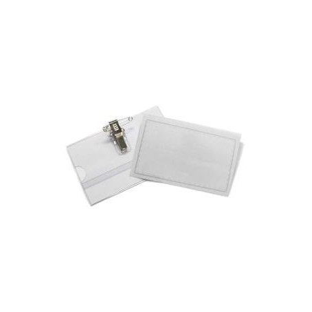 Portanome - portabadge con clip e spilla in metallo - 5 pezzi