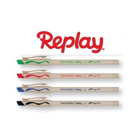 4 Penne PaperMate Replay New Cancellabile - prezzo in offerta
