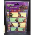 Ninja Turtles - etichette adesive nome per quaderni e libri - 8 pezzi