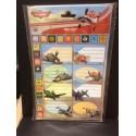 Planes - etichette adesive nome per quaderni e libri - 8 pezzi