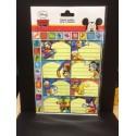 Topolino - etichette adesive nome per quaderni e libri - 8 pezzi