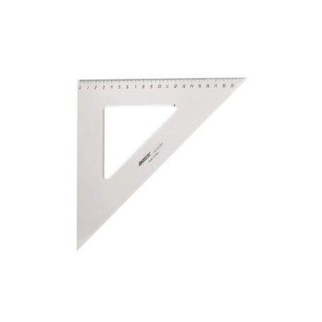 Squadra scuola in PVC trasparente - 45° 30 cm