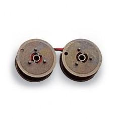 Nastro 2 bobine seiko 3 punte per calcolatrice olivetti - nero rosso compatibile