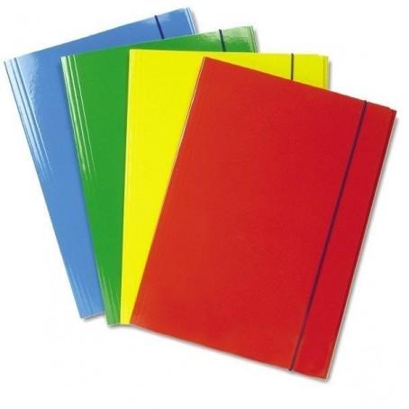Cartelle con elastico lucide in 4 colori