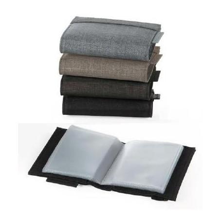 Greenwitch porta carte di credito 16 posti in tessuto tipo jeans