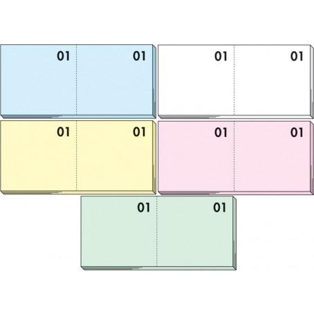 Blocco numerato 1-100 - 10 pezzi - colori pastello assortiti
