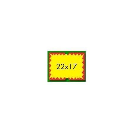 5 rotoli etichette prezzatrice 22x17 fluo FLASH - alta qualità permanete - 4.750 etichette