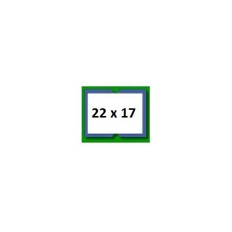 5 rotoli etichette prezzatrice 22x17 cornice blu - alta qualità permanete - 4.750 etichette