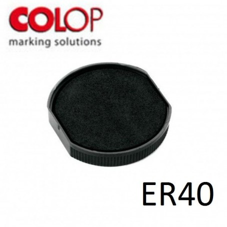 Tampone cuscinetto per timbro Colop ER40 nero - timbro rotondo