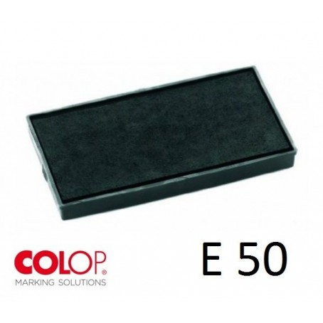 Tampone cuscinetto per timbro Colop Printer E50  nero - PRE INCHIOSTRATO