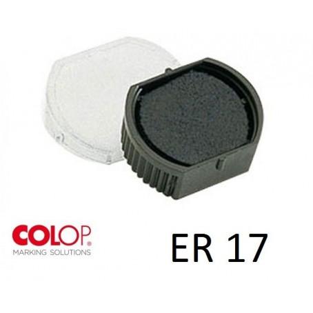 Tampone cuscinetto per timbro Colop ER17 nero - timbro rotondo