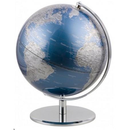 Mappamondo in alluminio Red Planet - blu  - Diametro 24cm