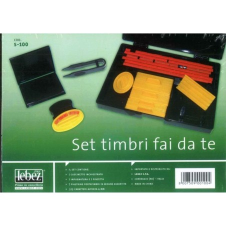 Set timbri fai da te kit completo - set mini tipografia