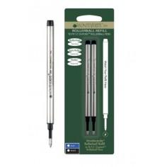 2 Refill roller per Dupont - nero punta fine - kit 2 refill monteverde
