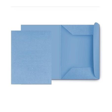 25 cartelle in cartoncino 3 lambi - 25x33 180g - senza stampa azzurro