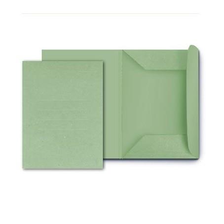 25 cartelle in cartoncino 3 lambi - 25x33 verde