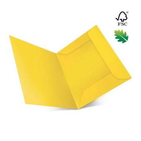 25 cartelle in cartoncino 3 lambi - 25x35 200g - senza stampa giallo forte