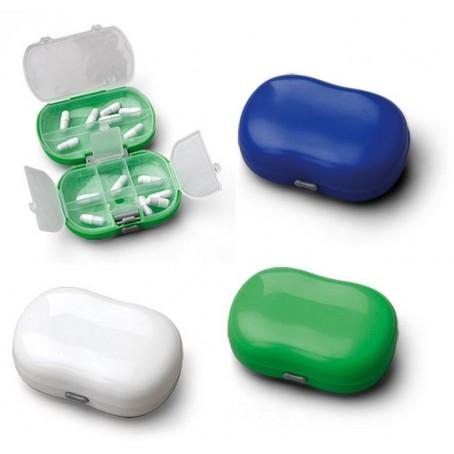 Portapillole e 2 reparti con 8 scomparti - in PVC resistente colorato