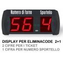 Display eliminacode a 2 cifre + numero di sportello per multi utenza