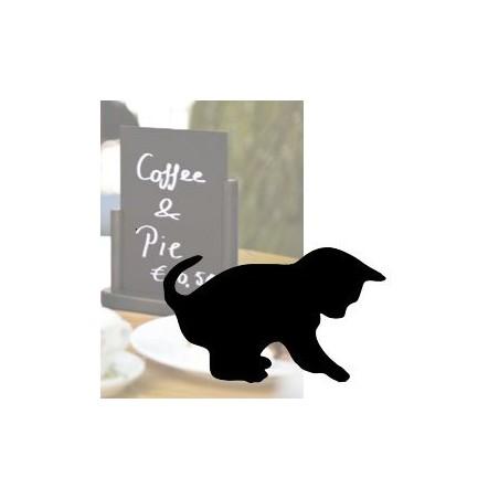 Lavagna arredo da parete nera forma gatto - scrittura con pennarello a gesso