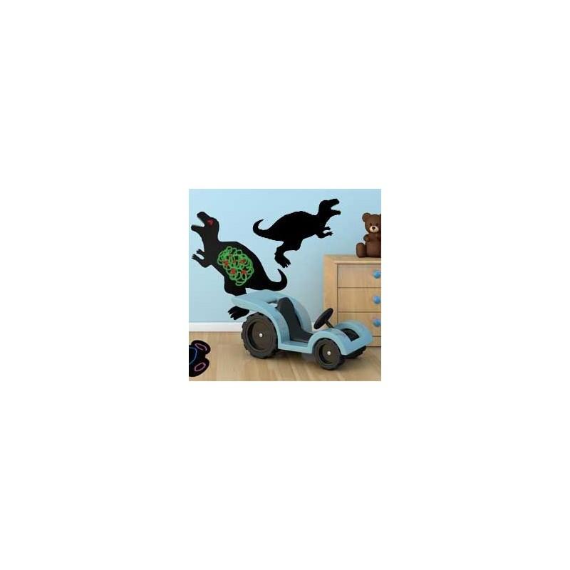 Lavagna arredo da parete nera forma dinosauro scrittura for Lavagne da arredo