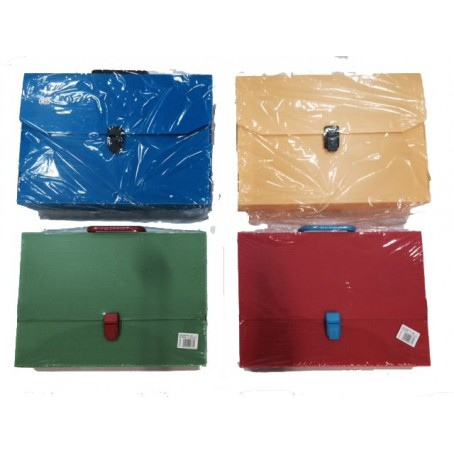 Valigetta polionda colorata dorso 8 con manico - 27x38 -