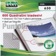 Quadratini biadesivi ideali per foto ed altro - 600 pz 10x11