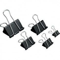 6 pezzi Double clips da 19 mm - molletta fermacarte