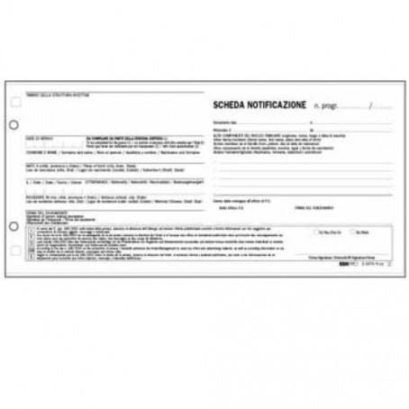 10 schede di notifica a 2 copie - 10x22 - autoricalcanti - persone alloggiate