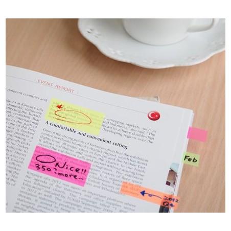 Segnapagine Index adesivi scrivibile - 50 pezzi colore fucsia