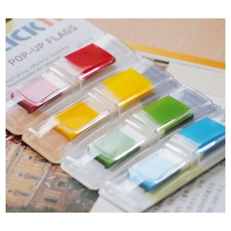 Segnapagine index bandierine adesive semitrasparenti - 140 pezzi in 4 colori