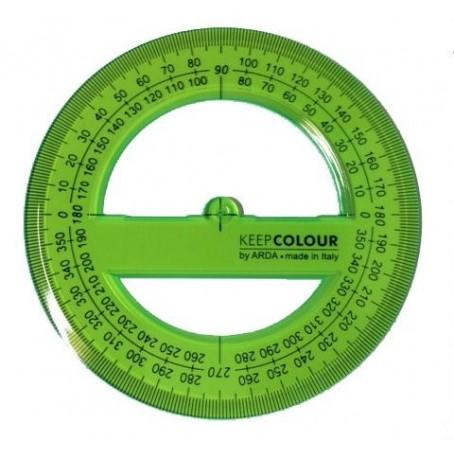 Goniometro in PVC fluorescente verde - 360 gradi - keep colour