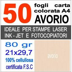Risma carta color albicocca A4 - 80gr  50ff  - monocolore