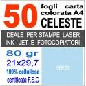 Risma carta color cedro A4 - 80gr 50ff - monocolore
